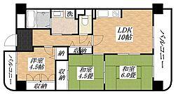 メゾン背戸口[6階]の間取り
