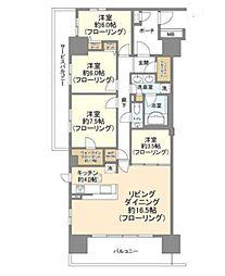 東京フロンティアシティパーク&パークス 15階3SLDKの間取り