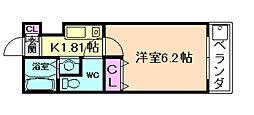 大阪府豊中市庄内幸町3丁目の賃貸マンションの間取り