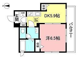 IZUMI-YA 1階1DKの間取り