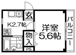 香里ニートネス[1階]の間取り