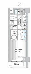 東京メトロ丸ノ内線 西新宿駅 徒歩7分の賃貸マンション 4階1Kの間取り