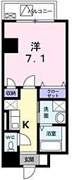 イル・コンソラーレ 3階1Kの間取り