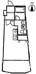 インフィールド溝口[4階]の間取り