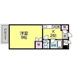 ユースビラ片江[404号室]の間取り
