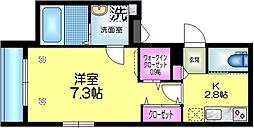 東武伊勢崎線 曳舟駅 徒歩5分の賃貸マンション 1階1Kの間取り