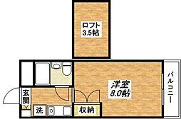 フラット平野南[7階]の間取り