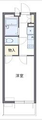 京成千葉線 京成稲毛駅 徒歩6分の賃貸マンション 2階1Kの間取り