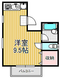 コンラッド布施[4階]の間取り