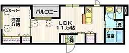 Mauna Kalae# 3階1LDKの間取り