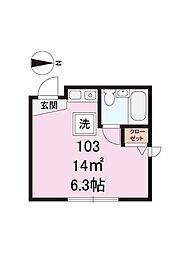 インベスト馬込II[1階]の間取り