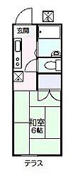 フラッツ京明[202号室]の間取り