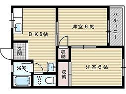 エトワール豊新[3階]の間取り