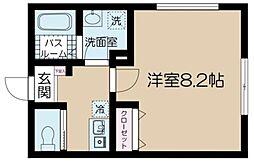 フェリーチェ吉祥寺A 2階1Kの間取り
