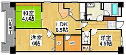 G−ONE姪浜駅南EAST[402号室]の間取り