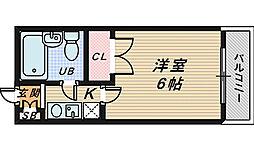 レジデンス北花田[6階]の間取り