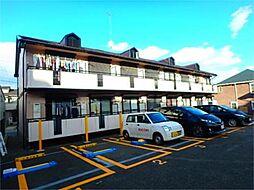東京都日野市三沢1の賃貸アパートの外観