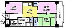 サンハイム茂呂[4階]の間取り