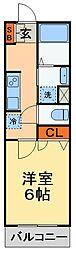 JR成田線 成田駅 徒歩6分の賃貸アパート 1階1Kの間取り
