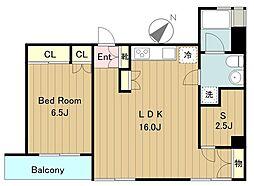 グリーンボックス5[3階]の間取り