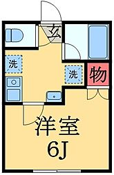 千葉県千葉市中央区宮崎2丁目の賃貸アパートの間取り