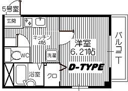 アクセス箱崎[305号室]の間取り