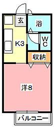 メルベイユ24 A[202号室]の間取り
