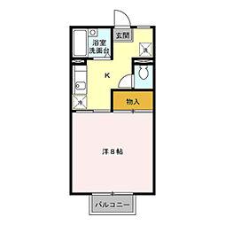 パンシオン額新保[2階]の間取り