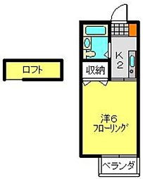 グランパレス横田[2階]の間取り