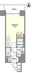 東京メトロ半蔵門線 錦糸町駅 徒歩9分の賃貸マンション 5階ワンルームの間取り