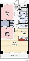 愛知県春日井市西本町2丁目の賃貸マンションの間取り