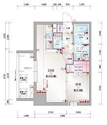 JR鹿児島本線 吉塚駅 徒歩10分の賃貸マンション 2階1LDKの間取り
