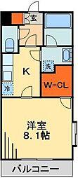 JR総武線 千葉駅 バス9分 四街道入り口下車 徒歩1分の賃貸マンション 2階1Kの間取り
