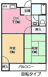第1ヤマトハイツ[3階]の間取り