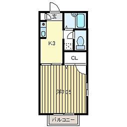 ドルフ花垣[A203号室]の間取り