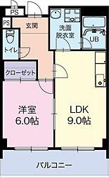 静岡県掛川市下垂木の賃貸マンションの間取り