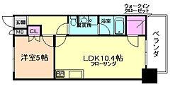 ZEUS西梅田プレミアム[4階]の間取り