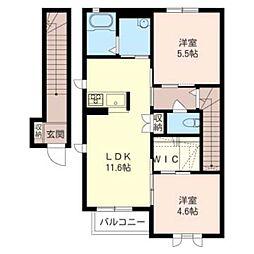 レスポワールI[2階]の間取り