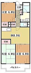 エーデルハイム2号棟[3階]の間取り