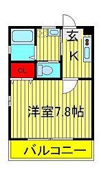ブランカ大塚[1階]の間取り