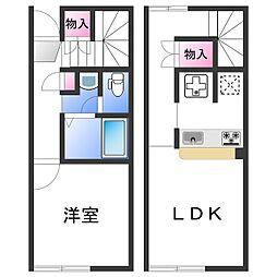 レオネクストほしやII 2階1LDKの間取り