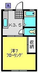 第一三ツ沢ハイツ[1階]の間取り