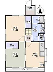 本木アパート[2階]の間取り