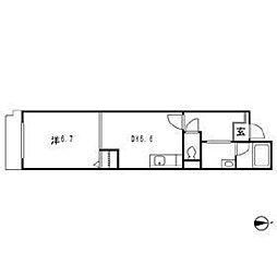 シティテラス中杉アベニュー[3階]の間取り