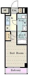 JR南武線 立川駅 徒歩9分の賃貸マンション 7階1Kの間取り