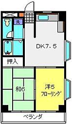 コスモ佐野第2[303号室]の間取り