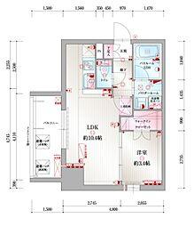 JR鹿児島本線 吉塚駅 徒歩10分の賃貸マンション 4階1LDKの間取り
