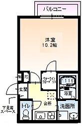 Osaka Metro御堂筋線 なかもず駅 徒歩3分の賃貸アパート 3階1Kの間取り