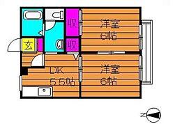 ブロードビューI[2階]の間取り