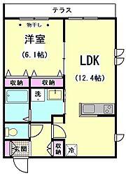 ボナール水菊[1階]の間取り